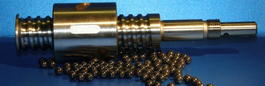 A small ballscew with ball bearings